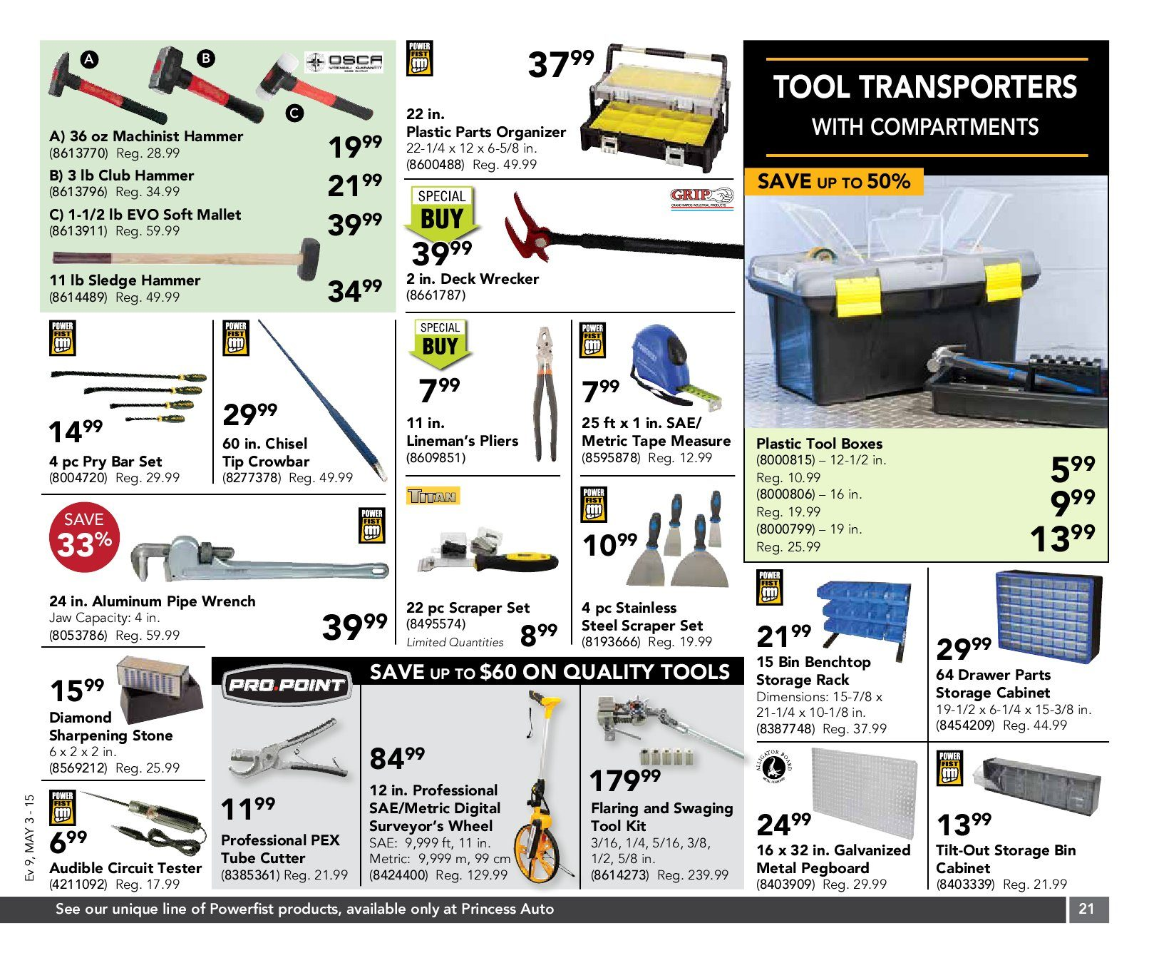 Princess Auto Weekly Flyer 13 Day Sale Clean Sweep May 3 15 Wiring Harness Pegboard