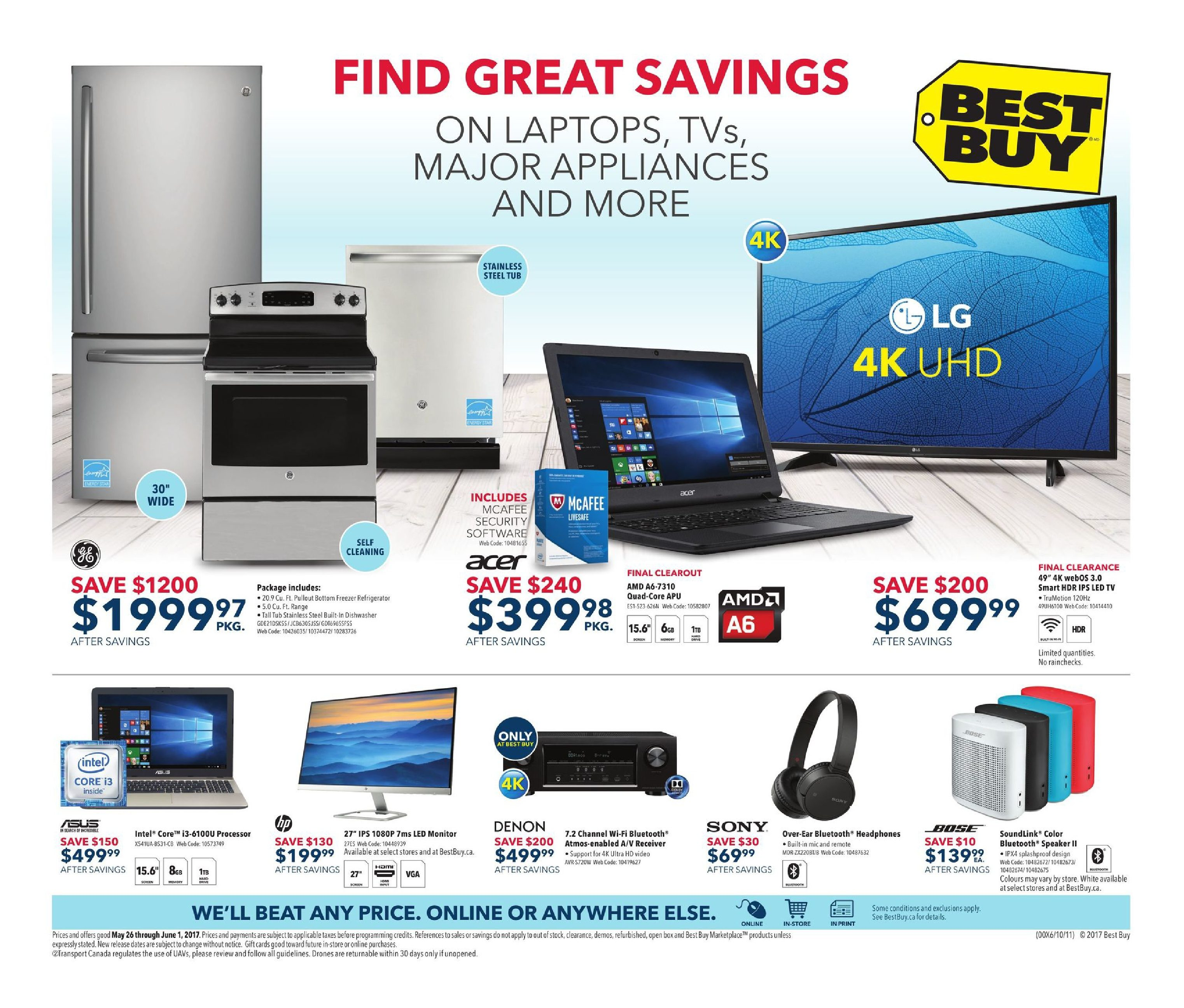 best buy weekly flyer weekly find great savings may 26 jun 1 rh redflagdeals com
