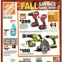 Home Depot - Weekly - Fall Savings Start Here Flyer