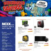 NCIX - Weekly Deals - Blockbuster Savings Week Flyer