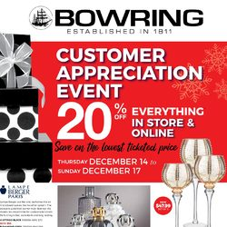 Bowring - Customer Appreciation Event Flyer