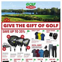 Golf Town - Give The Gift of Golf Flyer