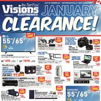 Visions Electronics - Weekly - January Clearance! Flyer