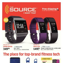 The Source - 3 Weeks of Savings - The Place for Top-Brand Fitness Tech Flyer