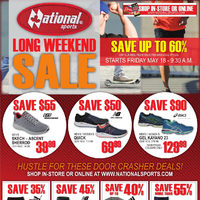 National Sports - Long Weekend Sale Flyer