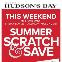 The Bay - Weekly - Summer Scratch & Save Flyer