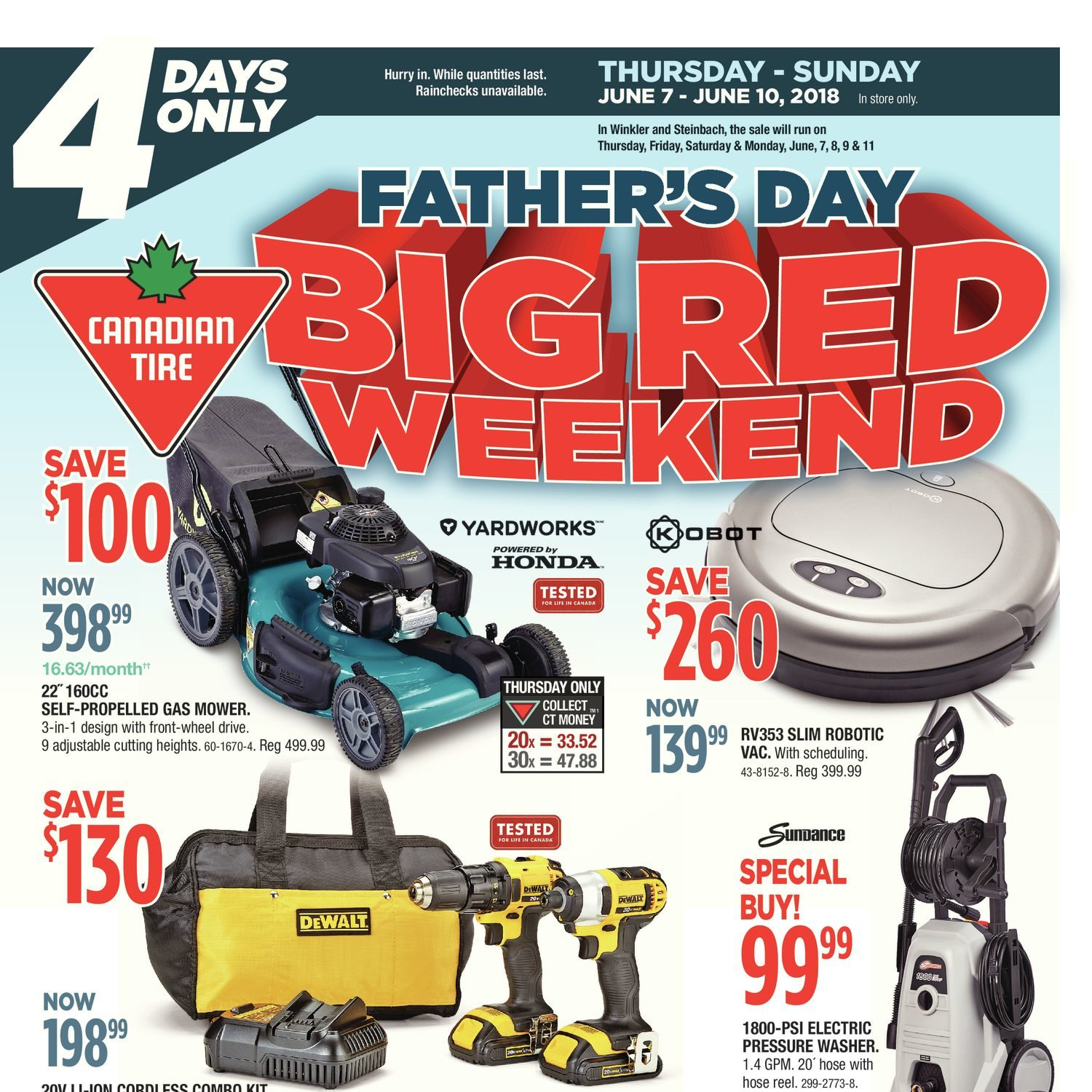Canadian Tire Weekly Flyer Father S Day Big Red Weekend 4 Days Only Jun 7 10 Redflagdeals Com