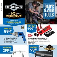 Princess Auto - Dad's Teaching Tools Flyer
