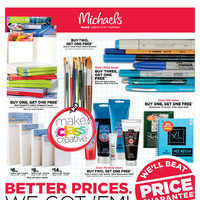 Michaels - Weekly - Better Prices. We Got 'em! Flyer