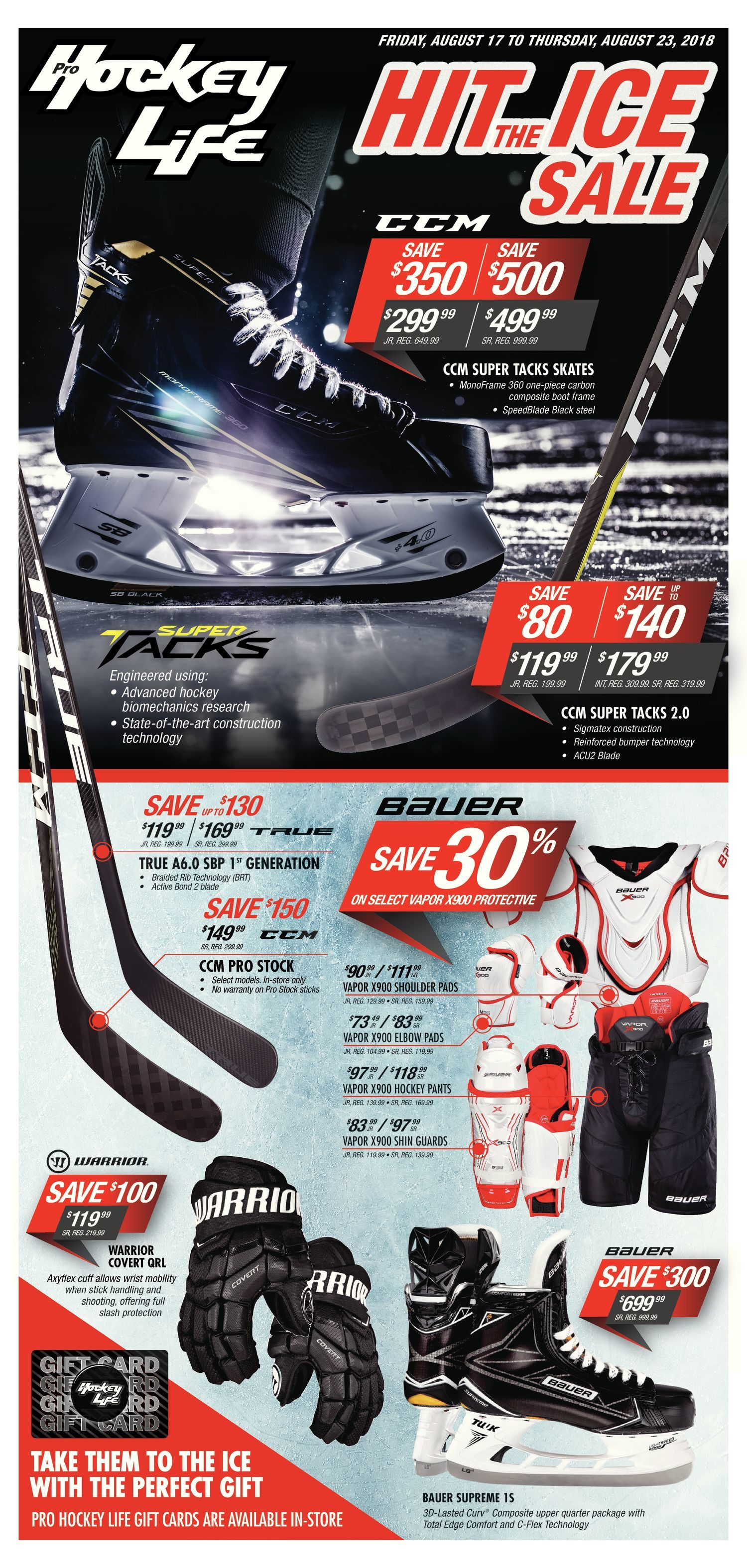Pro Hockey Life Weekly Flyer - Hit The Ice Sale - Aug 17