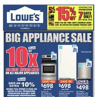 Lowe's - Weekly - Big Appliance Sale Flyer