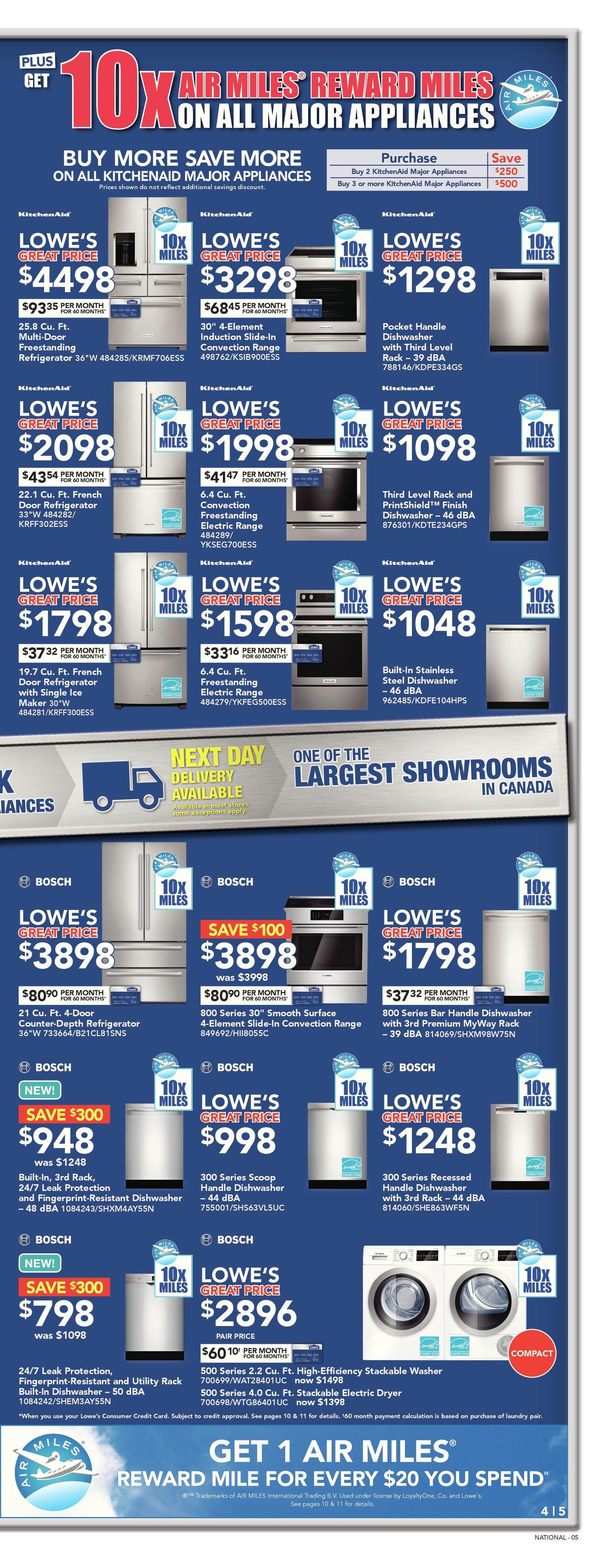 Lowe\'s Weekly Flyer - Weekly - Big Appliance Sale - Sep 20 – 26 ...