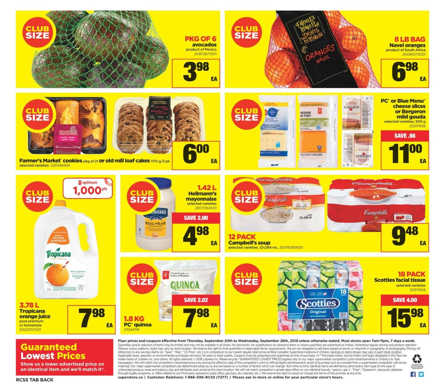 Real Canadian Superstore Weekly Flyer Sep 20 26 Minute Maid Homestyle Orange 1l