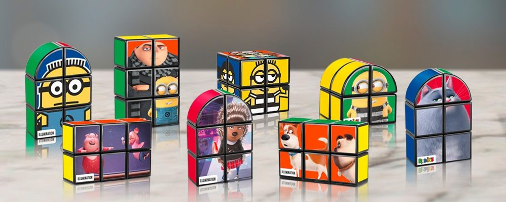 Universal Animation Rubik's Puzzle Happy Meal Toys Are Now At McDonald's Canada (November 2018)