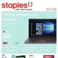 Staples - Weekly - Work. Learn. Grow. Flyer