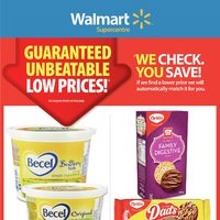 Walmart - Supercentre - Guaranteed Unbeatable Low Prices! Flyer