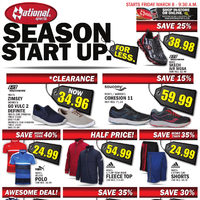 National Sports - Season Start Up Sale Flyer
