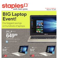 Staples - Weekly - Big Laptop Event! Flyer