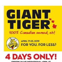 Giant Tiger - Weekly - Hoppy Easter Deals! Flyer