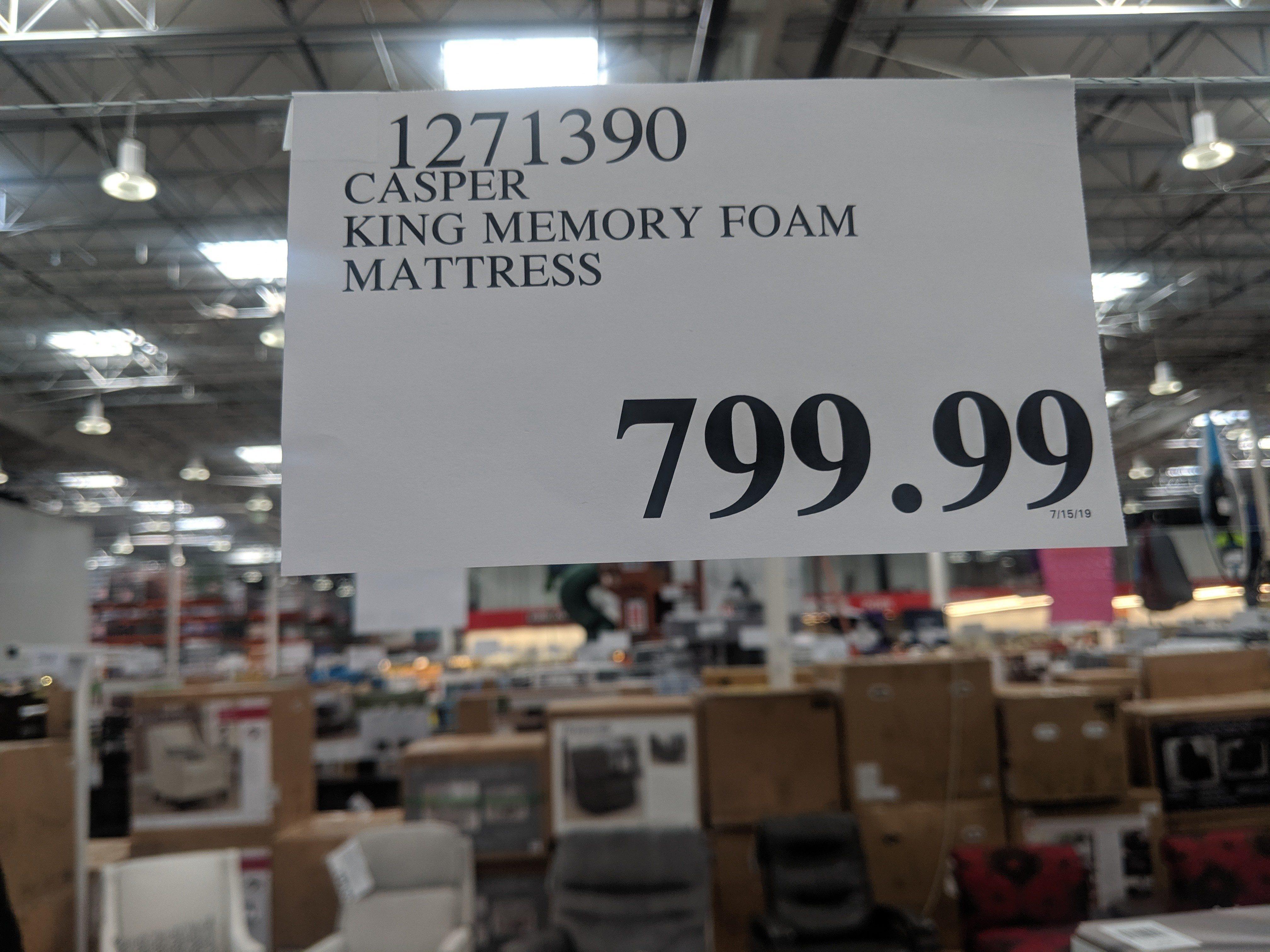 Costco Casper Mattress Costco Usa Wa 599 99 Queen 799 99 King Redflagdeals Com Forums