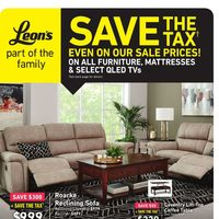 Leon's - Save The Tax Flyer