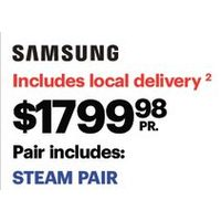 Samsung 5.2 Cu. Ft. Front Load Steam Washer & 7.5 Cu. Ft. Electric Steam Dryer