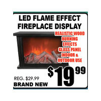 Led Flame Effect Fireplace Display