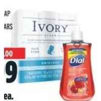 Dial Hand Soap or Ivory Soap Bars