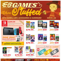 EB Games - We're Stuffed Flyer