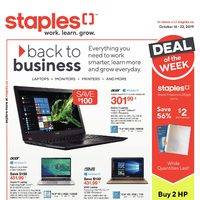 Staples - Weekly - Back To Business Flyer