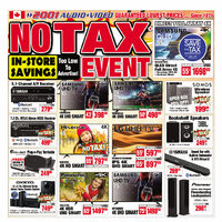 2001 Audio Video - Weekly - No Tax Event Flyer