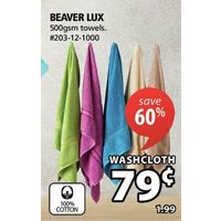 Beaver Lux Wash Cloth