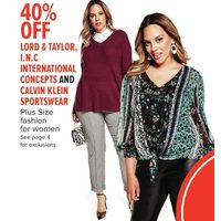 Lord & Taylor, I.N.C International Concepts And Calvin Klein Sportswear Fashion For Women