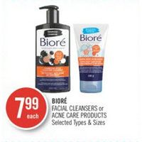 Biore Facial Cleansers Or Acne Care Products