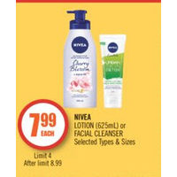 Nivea Lotion Or Facial Cleanser
