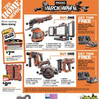 Home Depot - Weekly - Ridgid March Mayhem Flyer