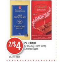 PC Or Lindt Chocolate Bar