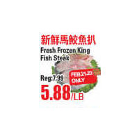 Fresh Frozen King Fish Steak