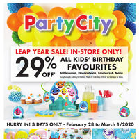 Party City - Leap Year Sale Flyer