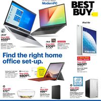 Best Buy - Weekly - Find The Right Home Office Set-Up Flyer