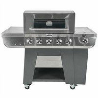 Cuisinart 3-in-1 Stainless 5-Burner Gas Grill, Griddle and Smoker Box