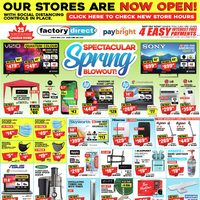 Factory Direct - Spectacular Spring Blowout! Flyer
