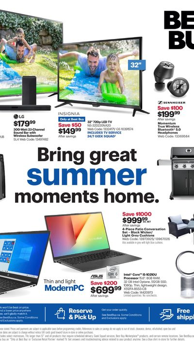 Best Buy - Weekly - Bring Great Summer Moments Home  Flyer