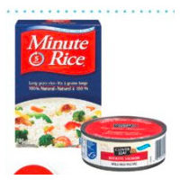 Clover Leaf Flaked Wild Red Pacific Sockeye Salmon or Minute Rice