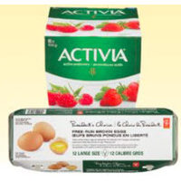 PC Free-Run Eggs, Danone Danino Or Activia Yogurt