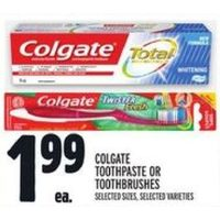 Colgate Toothpaste Or Toothbrushes