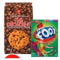 PC The Decadent Cookie, Betty Crocker Fruit Snacks or Natura Valley Trail Mix Bars