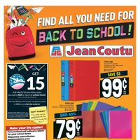 Jean Coutu - Find All You Need For Back To School! Flyer