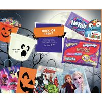 Select Candies, Treat Bags, and Buckets