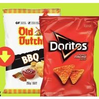 Doritos Old Dutch Potato Chips or Ridgies